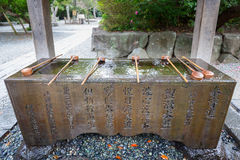 Water purification at the Buddhist temple Royalty Free Stock Photo
