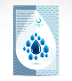 Water purification business promotion idea, brochure head page. Stock Photos