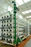 Water purification factory. Water purification technology (Reverse osmosis) used in the factory Stock Image