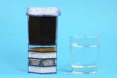 Water Purification Filter. With activated charcoal and other filter substrates Royalty Free Stock Photo