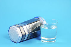 Water Purification Filter. With activated charcoal and other filter substrates Stock Images