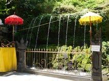 Water for purification ritual in Pura Tirta Sudamala, Bangli, Bali Royalty Free Stock Image
