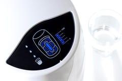 Water purifier display. Closeup filter indicator Blue LED of water purifier Royalty Free Stock Image
