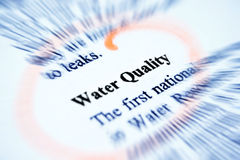 Water quality Stock Photo