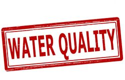 Water quality. Stamp with text water quality inside,  illustration Royalty Free Stock Photography