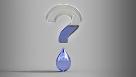 Water Question Mark Concept 3d Illustration Royalty Free Stock Image