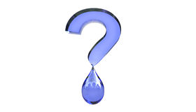 Water Question Mark Concept 3d Illustration Stock Photo