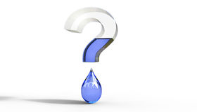 Water Question Mark 3D Illustration Stock Photo