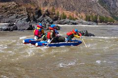 Water Rafting on the Altay. Stock Photography