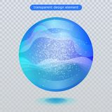 Water rain drop isolated on transparent background. Water bubble or glass surface ball for your design. stock illustration