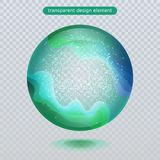 Water rain drop isolated on transparent background. Water bubble or glass surface ball for your design. vector illustration