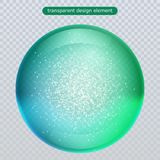 Water rain drop isolated on transparent background. Water bubble or glass surface ball for your design. royalty free illustration