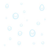 Water or rain drops on white Stock Photography