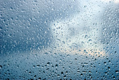 Water raindrops on a window Stock Images