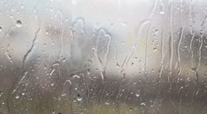 Water raindrops on window glass royalty free stock images