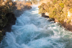 Water on the rapid river, new zealand. Water on the rapid river in new zealand Stock Photo