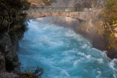 Water on the rapid river, new zealand. Water on the rapid river in new zealand Royalty Free Stock Photography