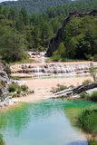 Water rapids in a ravine Paternoy de Esporret, province Aragon, Stock Photos