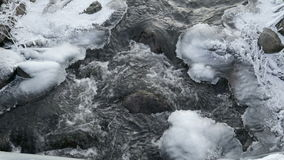 Water rapids from the river in Lahemma stock video footage