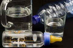 Water recipients. Several recipients used to drink and transport water Royalty Free Stock Photography