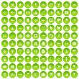 100 water recreation icons set green. 100 water recreation icons set in green circle isolated on white vectr illustration Vector Illustration
