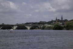 Water Recreation on the Potomac River at Georgetown Royalty Free Stock Photo