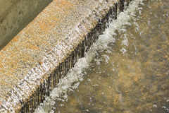 Water recycling in big sedimentation drainages Stock Images