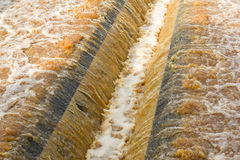 Water recycling in big sedimentation drainages Stock Image