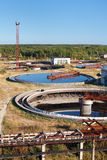 Water recycling sewage station stock photos