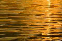 Water reflecting orange yellow. Royalty Free Stock Image