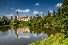 Water Reflection of Castle-Pruhonice,Czech Rep. Royalty Free Stock Image