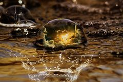 Water, Reflection, Close Up, Macro Photography Royalty Free Stock Photos