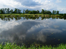 Water Reflection on Countryside. The view of water reflection on countryside Royalty Free Stock Photos