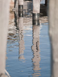 Water reflection of dock Stock Image