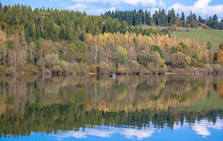 Water reflection - lake Liptovska Mara, Slovakia Stock Images