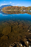 Water reflection - lake Liptovska Mara, Slovakia Royalty Free Stock Image
