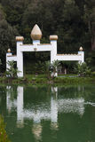 Water reflection at Lake Shrine Fellowship, Santa Monica. stock photos