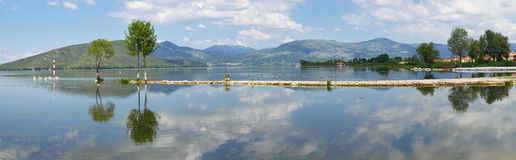Water reflection landscape royalty free stock photos
