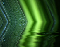 Water reflection of leaf Stock Image