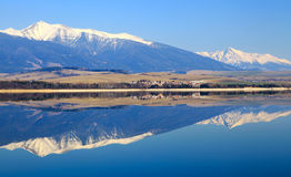 Water reflection at Liptovska Mara, Slovakia Stock Photography