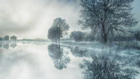 Water, Reflection, Nature, Winter royalty free stock images
