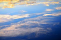 Water reflection of sky Royalty Free Stock Photo