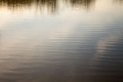 Water Reflection. Trees, sky, clouds and Sun reflecting on Water Royalty Free Stock Photos