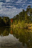 Water reflection of trees and sky - Czech Republic Royalty Free Stock Photo