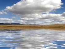 Water reflection white cloud Royalty Free Stock Photo