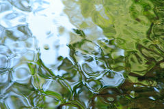 Water reflections. Reflections on the water surface Royalty Free Stock Photo