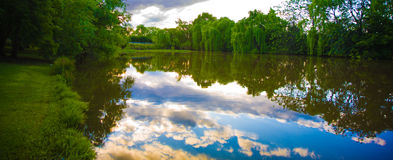 Water Reflections. Reflection of sky and clouds in water Stock Photography