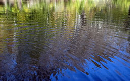 Water reflections. Suitable to use it as water reflected background royalty free stock photography