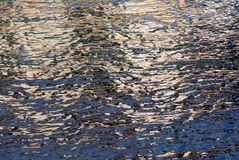 Water reflections. Close-up image with copy space royalty free stock photography