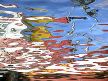 Water reflections. Colorful Water reflections stock photos